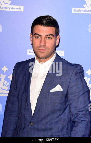 London, Großbritannien. 18 Sep, 2017. Jon Clark an der Nationalen Lotterie Awards in London Feiern der Sieger in - Stockfoto