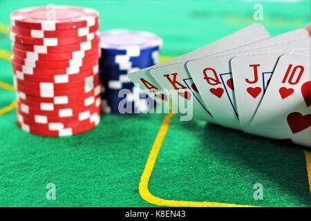 Ein Konzept Bild von einem Poker Spiel - Stockfoto