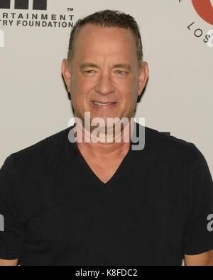 Westwood, USA. 18 Sep, 2017. Tom Hanks besucht 27. jährlichen Einfach Shakespeare profitieren Freud Playhouse, UCLA - Stockfoto