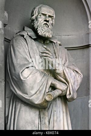 Galileo Galilei 1564 - 1642 war eine italienische Universalgelehrten: Astronom, Physiker, Ingenieur, Philosoph und - Stockfoto