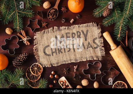 frohe weihnachtsgru auf mehl geschrieben weihnachtskarte. Black Bedroom Furniture Sets. Home Design Ideas