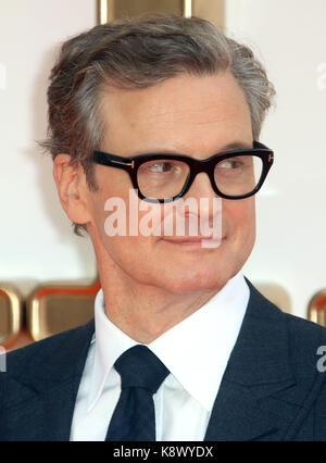 London - Sept 18, 2017: Colin Firth besucht die kingsman: Der goldene Kreis Weltpremiere im Odeon Leicester Square - Stockfoto