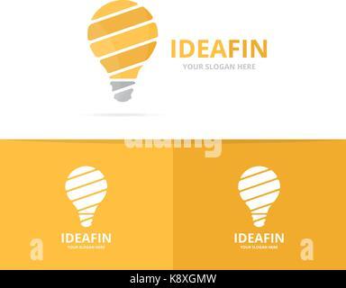 Satz von Lampe logo Kombination. Glühbirne Symbol. einzigartige Idee ...