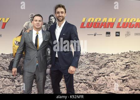 """Niederländische Premiere von """"Logan Lucky"""" im Pathé Tuschinski in Amsterdam, Niederlande. Mit: Channing Tatum, Reid - Stockfoto"""