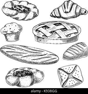 Brot Und Geback Doughnut Lange Brot Und Obst Torte Kuchen Und Susse