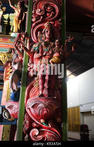 Pettah Colombo Sri Lanka Neue kathiresan Kovil Tempel für Krieg Gott murugan Statue der hinduistischen Göttin Lakshmi - Stockfoto
