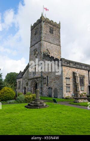 Die wunderschöne St. Marys Kirche in Kirkby Lonsdale Cumbria England United Kingdom Stockfoto
