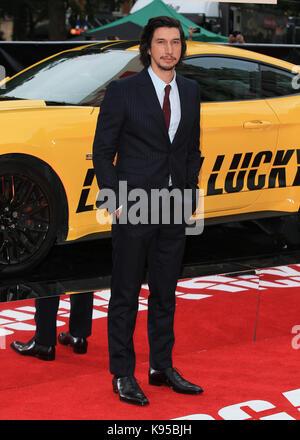 """UK Premiere von """"Logan Lucky"""" gehalten bei Vue West End - Ankunft mit: Adam Treiber Wo: London, Großbritannien Wann: - Stockfoto"""