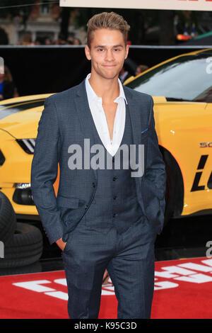 """UK Premiere von """"Logan Lucky"""" gehalten bei Vue West End - Ankunft mit: Julius Cowdrey Wo: London, Großbritannien - Stockfoto"""