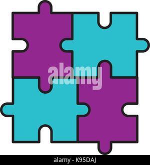 Puzzle Stück Geschäft Fortschritt erfolg konzept - Stockfoto