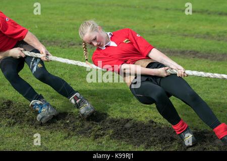 Southport, Merseyside, UK. 22 Sep, 2017. European Outdoor Tauziehen Meisterschaften und World Junior 2017 und unter - Stockfoto