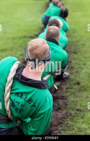 Southport, Merseyside, UK. 22 Sep, 2017. Wallby Team aus Schweden in die European Outdoor Tauziehen Meisterschaften - Stockfoto