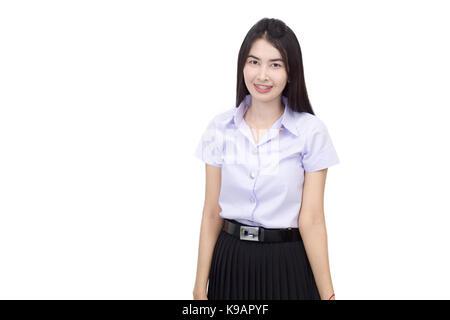 Portrait von Thai nach student Universität einheitliche - Stockfoto