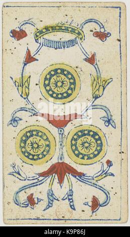 Piemonteser Tarot Deck Solesio 1865 Königin Der Schwerter Stockfoto