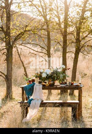 Lassen sie sich überraschen, Engagement, Design Konzept. privater und romantischer Ort, um durch die Felder und - Stockfoto