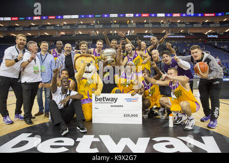 London, Großbritannien. 24. September 2017. London Lions gewinnen Eröffnungs Betway All-stars Basketball Turnier, - Stockfoto