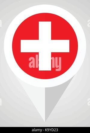 Plus Vektor icon. Weiß und Rot web Zeiger in eps 10 für Webdesign und smartphone Anwendungen. - Stockfoto