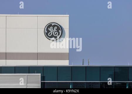 Lafayette - ca. September 2017: General Electric Factory. GE's New CEO bereitet Stellenabbau, um Kosten XV reduzieren - Stockfoto