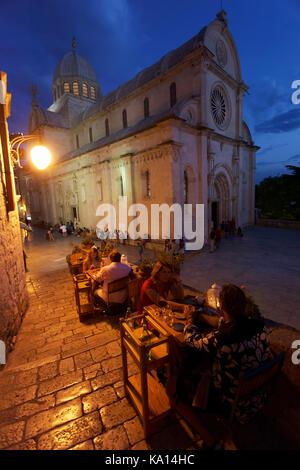 In Šibenik (Kroatien) in Abend - Stockfoto