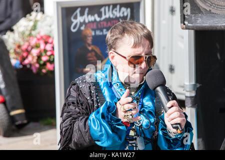 An, Elvis, Festival, Elvis Festival, Porthcawl, Bridgend, Grafschaft, Süden, Wales, Großbritannien, Großbritannien, - Stockfoto