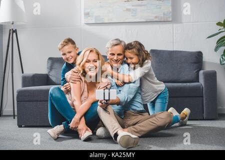 Familie selfie - Stockfoto