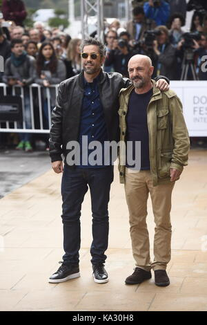 San Sebastian, Spanien. 25. September, 2017. Darsteller Unax Ugalde und Ramon Aguirre während der 65Th San Sebastian - Stockfoto