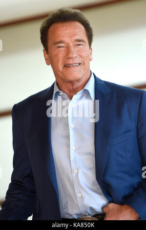 "San Sebastian, Spanien. 25 Sep, 2017. Arnold Schwarzenegger das ""Wunder von Meer 3 d'photocall während 65th San - Stockfoto"