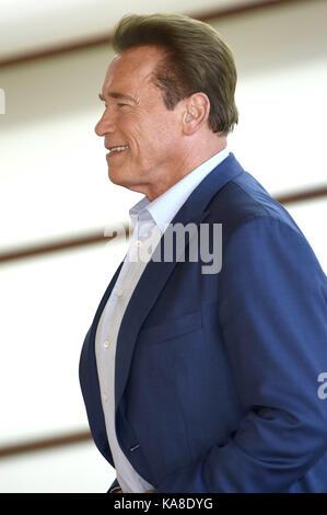 San Sebastian, Spanien. September 2017. Arnold Schwarzenegger nimmt am 25. September 2017 am 65. San Sebastian Film - Stockfoto