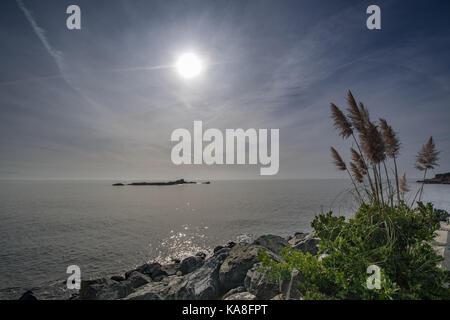 Fowey, Cornwall, UK. 26 Sep, 2017. UK Wetter. Nach dem frühen Morgennebel abgeräumt, es war ein warmer sonniger - Stockfoto