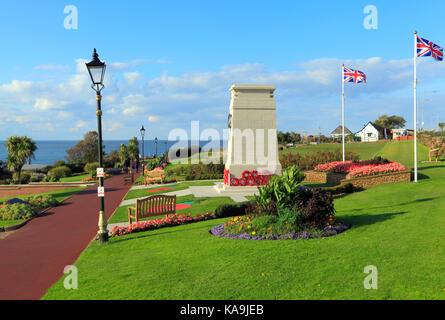 Kriegerdenkmal, Tag der Erinnerung, Gedenkstätten, Union Jack Flagge, Fahnen, 1914-1918, Weltkrieg 1, Weltkrieg, - Stockfoto