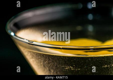 Close Up Abstract Details einer Vesper Martini - Stockfoto