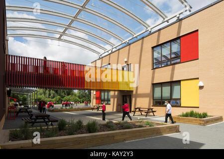 Architekt Lehre außenansicht der lehre block und link bridge jubiläum holz
