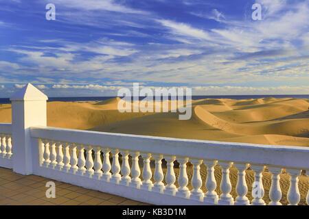Spanien, Kanarische Inseln, Gran Canaria, Dünen von Maspalomas, - Stockfoto
