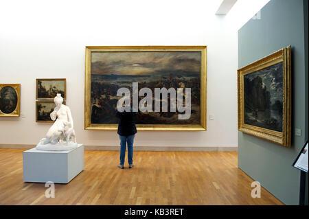 Frankreich, Meurthe et Moselle, Nancy, Stanislas-Platz, Museum der Schönen Künste, Junges Mädchen mit Kind von Jean - Stockfoto