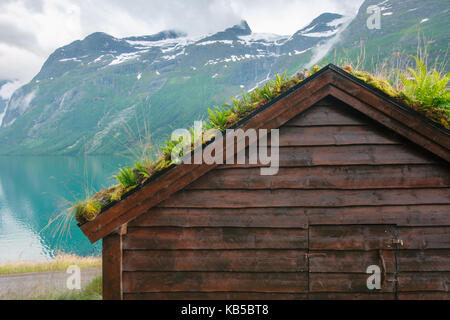 alte traditionelle norwegische bauernh user dezember sonnenuntergang am museum unter freiem. Black Bedroom Furniture Sets. Home Design Ideas