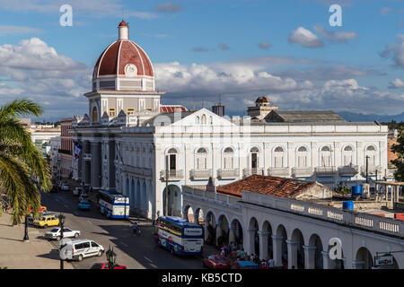 Der Rotunde des Antiguo Ayuntamiento, der Heimat der Provinzregierung Gebäude in Cienfuegos, UNESCO, Kuba, Zentralamerika - Stockfoto
