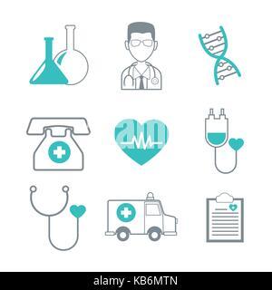 Medizinische Versorgung Symbole - Stockfoto