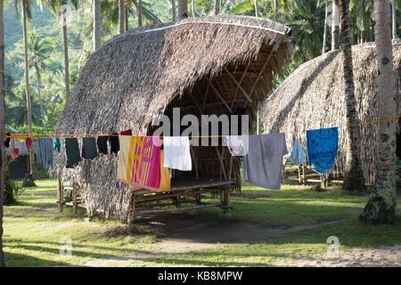 Philippinen Urlaub - bei Tao farm Camp, El Nido, Palawan, Philippinen Asien - Stockfoto