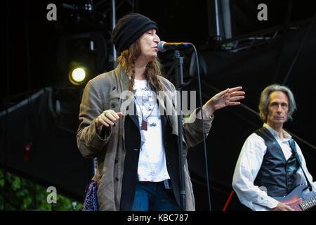 Der amerikanische Sänger, Songwriter und Dichter Patti Smith führt ein Live Konzert in der norwegischen Musik Festival - Stockfoto