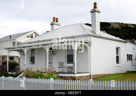 Cottage ist in einem viktorianischen Ära Arbeiter um 1880 erbaut, eine der vielen historischen Gebäuden in der Stadt, - Stockfoto