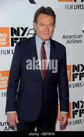 New York, NY, USA. 28 Sep, 2017. Bryan Cranston besucht 55th New York Film Festival Opening Night Premiere von 'Letzte - Stockfoto