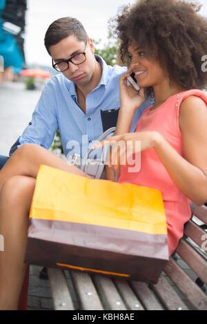 Frau Ignorieren der Mann - Stockfoto