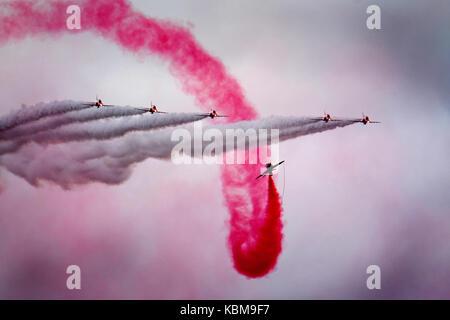 Die roten Pfeile RAF aerobatic Anzeige Mannschaft. - Stockfoto
