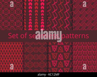 Der nahtlose Muster mit geometrischen Formen. Grün Farbe. Vector Illustration - Stockfoto