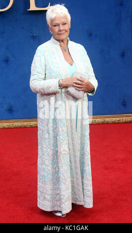 Sep 05, 2017 - Dame Judi Dench Teilnahme an Victoria & Abdul UK Premiere, Odeon Leicester Square in London, England, - Stockfoto