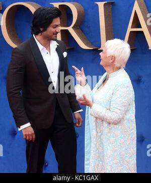 Sep 05, 2017 - Ali Fazal und Dame Judi Dench Teilnahme an Victoria & Abdul UK Premiere, Odeon Leicester Square in - Stockfoto