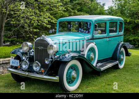 Grüne Hard Top 1932 McLaughlin Buick Vorderansicht, Kanadische Kraftfahrzeughersteller McLaughlin Motor Car Company - Stockfoto