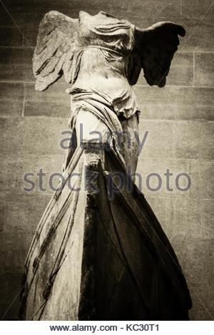 Die geflügelten Sieg von Samothrake, Louvre - Stockfoto