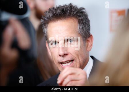 New York, USA. 01 Okt, 2017. Ben Stiller besucht die nordamerikanischen Premiere der Meyerowitz Geschichten während - Stockfoto
