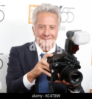 New York, USA. Oktober 2017. Dustin Hoffman ist am 1. Oktober 2017 bei der nordamerikanischen Premiere der Meyerowitz - Stockfoto
